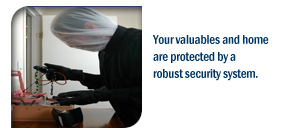 Your valuables and home are protected by a robust security system